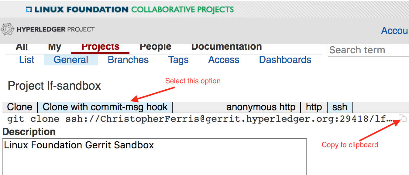 Submitting your first change request (CR) — hyperledger-fabricdocs