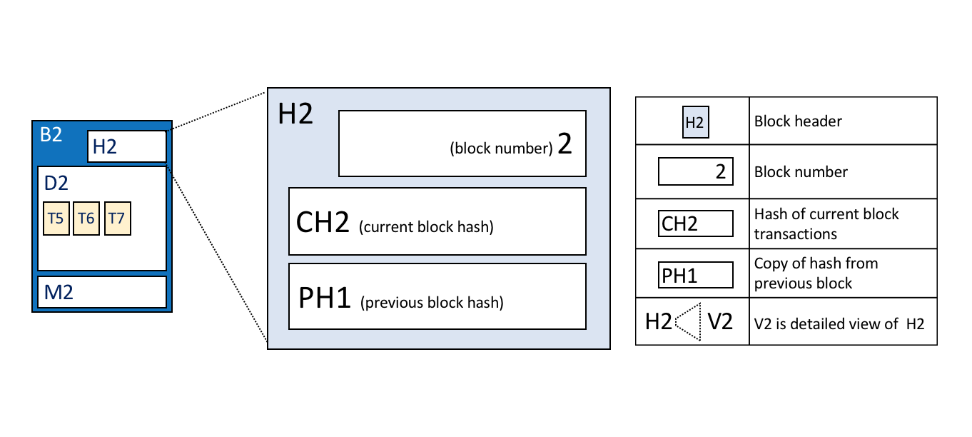 Ledger Hyperledger Fabricdocs Master Documentation T4 1 Block Diagram The Visual Vocabulary Expressed In Facts Is As Follows Header H2 Of B2 Consists Number 2 Hash Ch2 Current Data D2